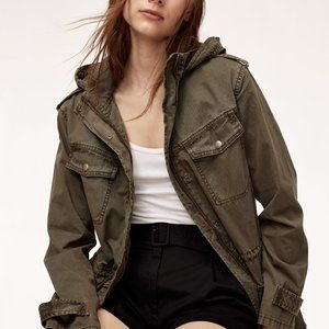 Aritzia Talula Trooper army green utility jacket M